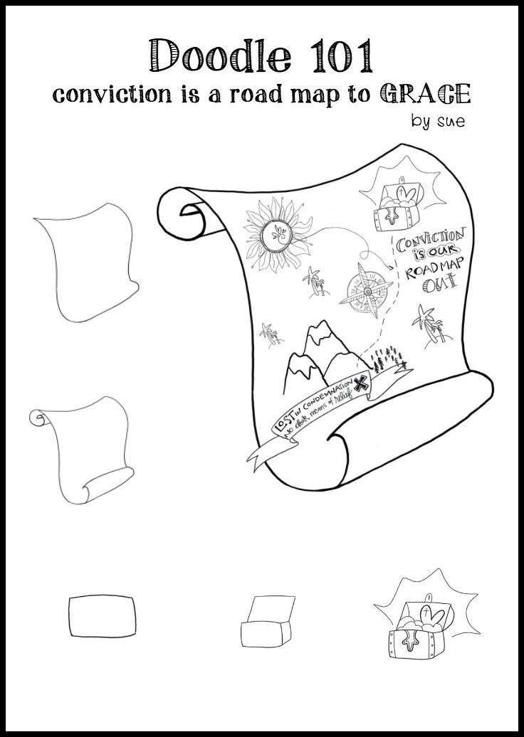 Doodle101:convictionleadstoGrace:SueCarroll