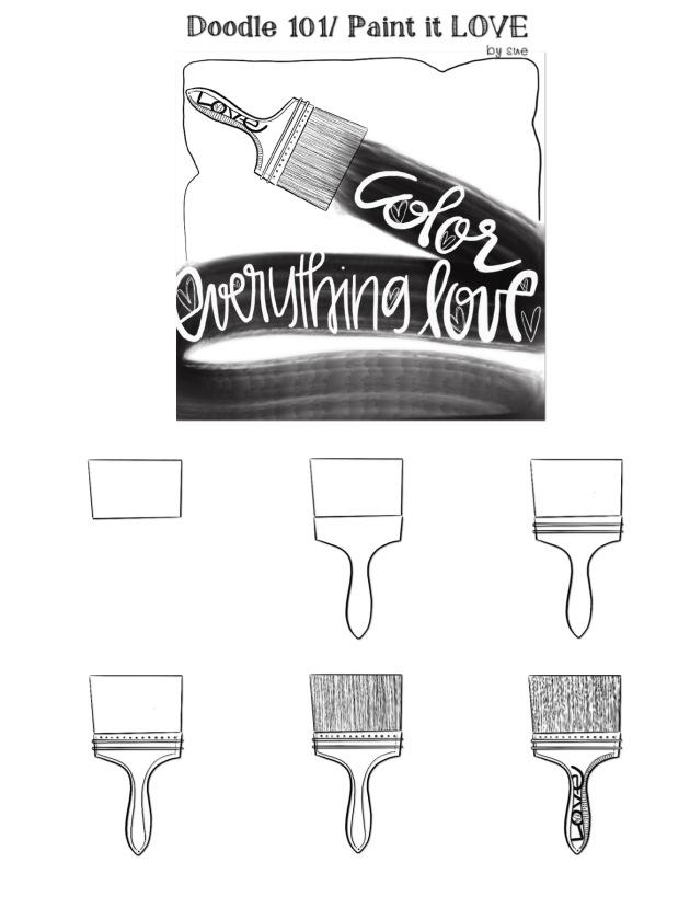 Doodle 101/ Paint/ LOVE/Sue Carroll