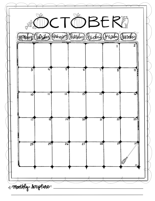 Calendar October/ Sue Carroll
