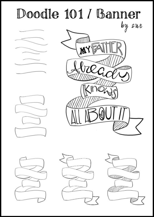 Doodle 101/ Banner/B&W/Sue Carroll