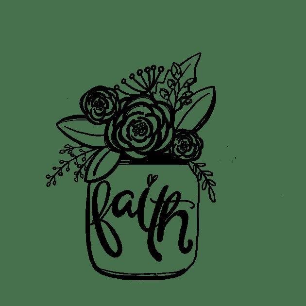 Doodle101:FAITH:Flowerjar:SueCarroll:10