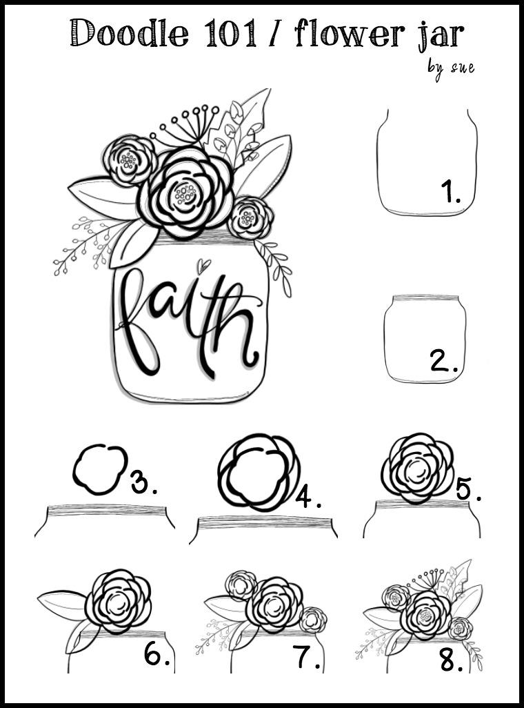Doodle101:FAITH:Flowerjar:SueCarroll