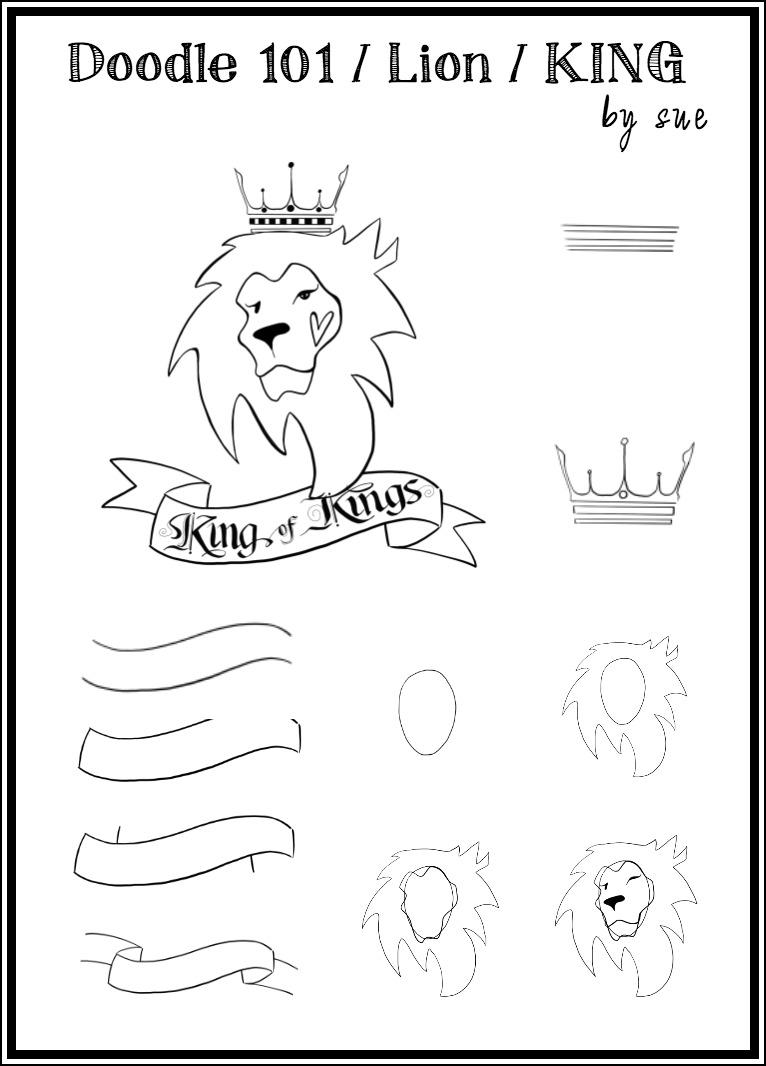 Doodle101:Lion:KING:SueCarroll