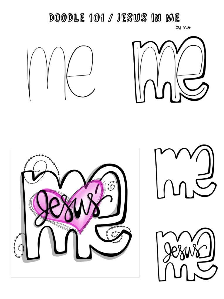 Doodle101/JesusinMe/Sue Carroll