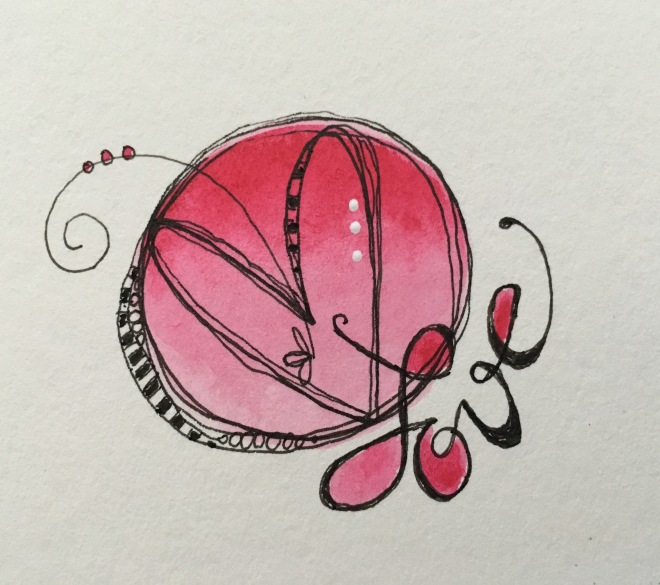 Watercolor/circle demo/ Sue Carroll