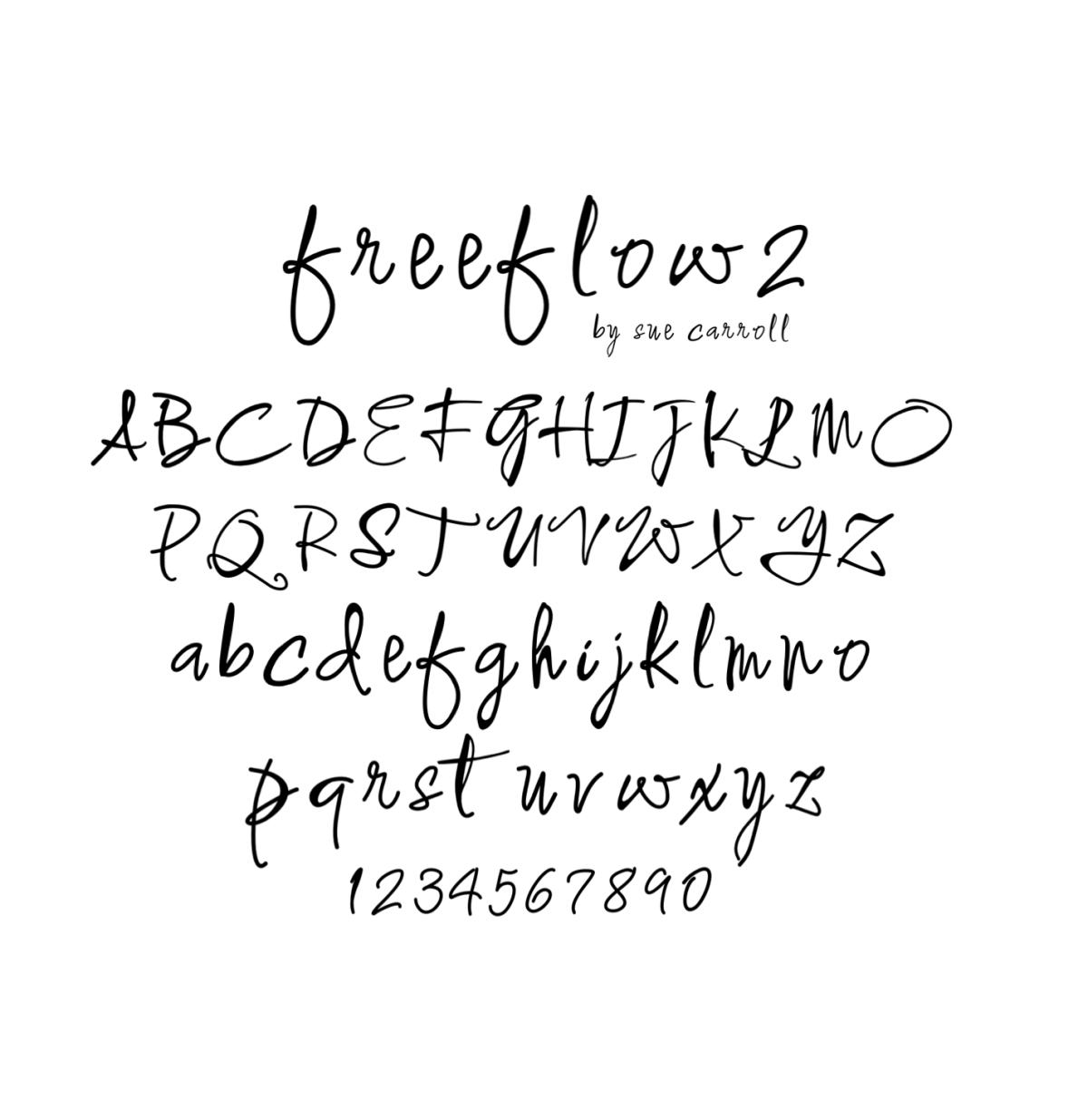 Freeflow2/downloadable font/bySueCarroll