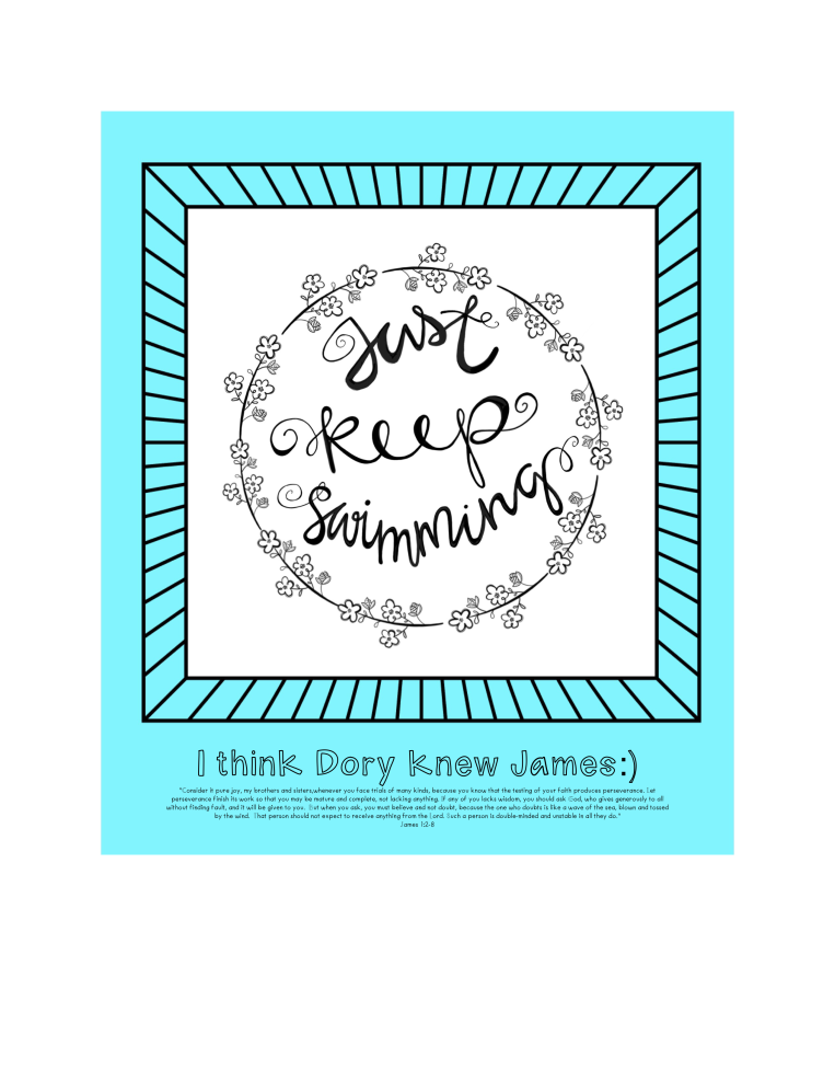 Just Keep Swimming/James1/Sue Carroll