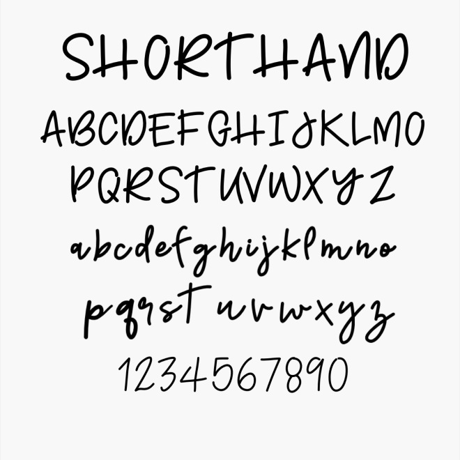 Shorthand/ FONTDOWNLOAD/ Sue Carroll