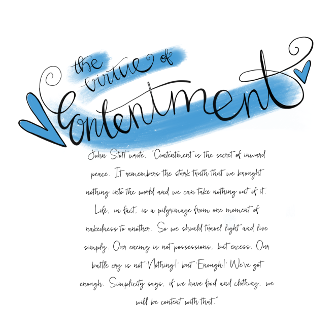 The Virtue of Contentment / Sue Carroll