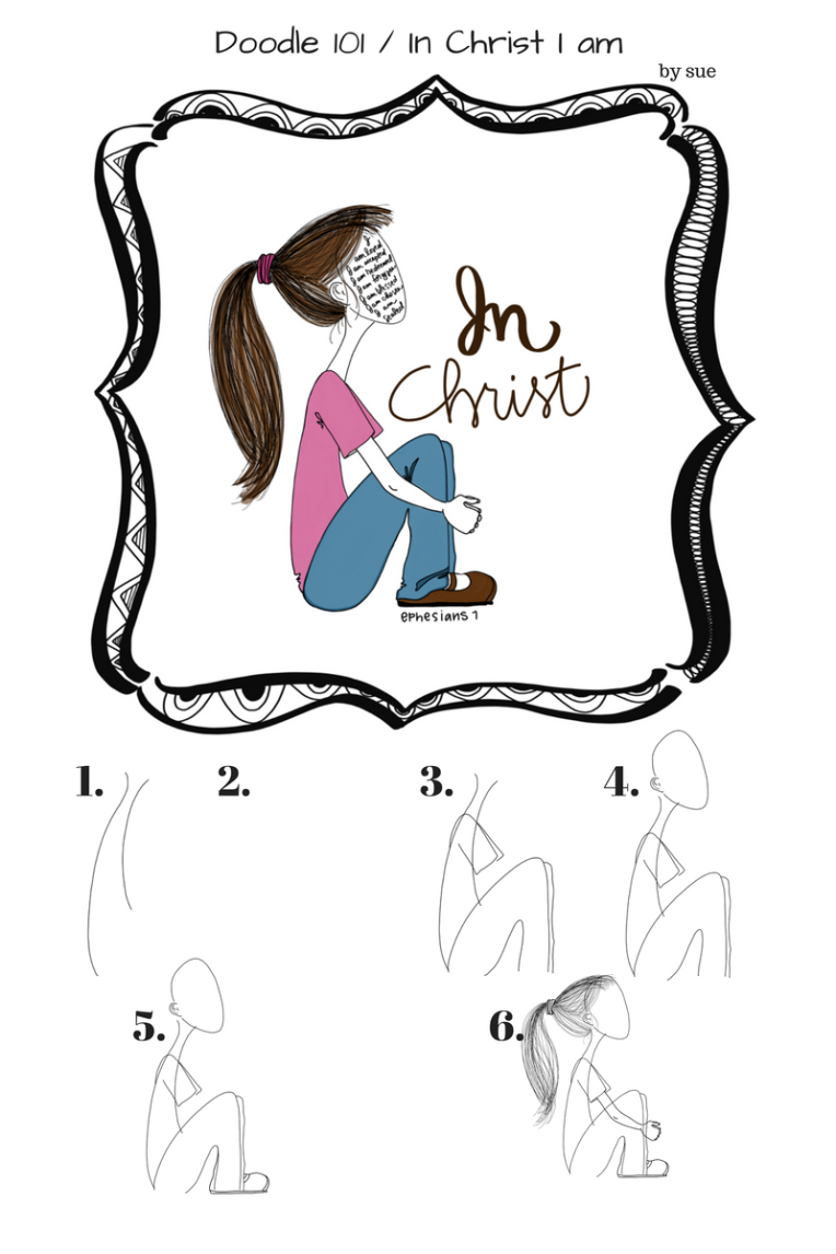 Doodle 101 / In Christ I am / Sue Carroll