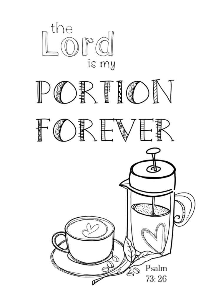 Free Coloring Page/ My Portion/ Sue Carroll