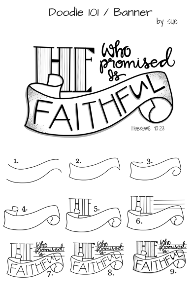 Doodle101/Banner/He is Faithful / Sue Carroll
