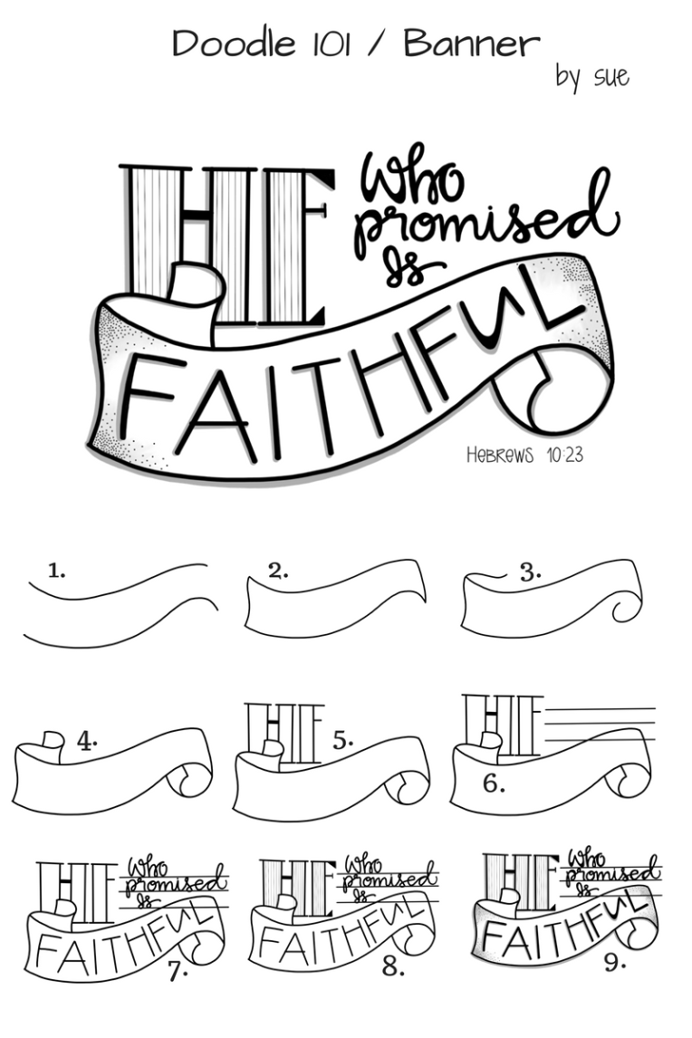 Doodle101/Banner/He is Faithful / Sue Carroll