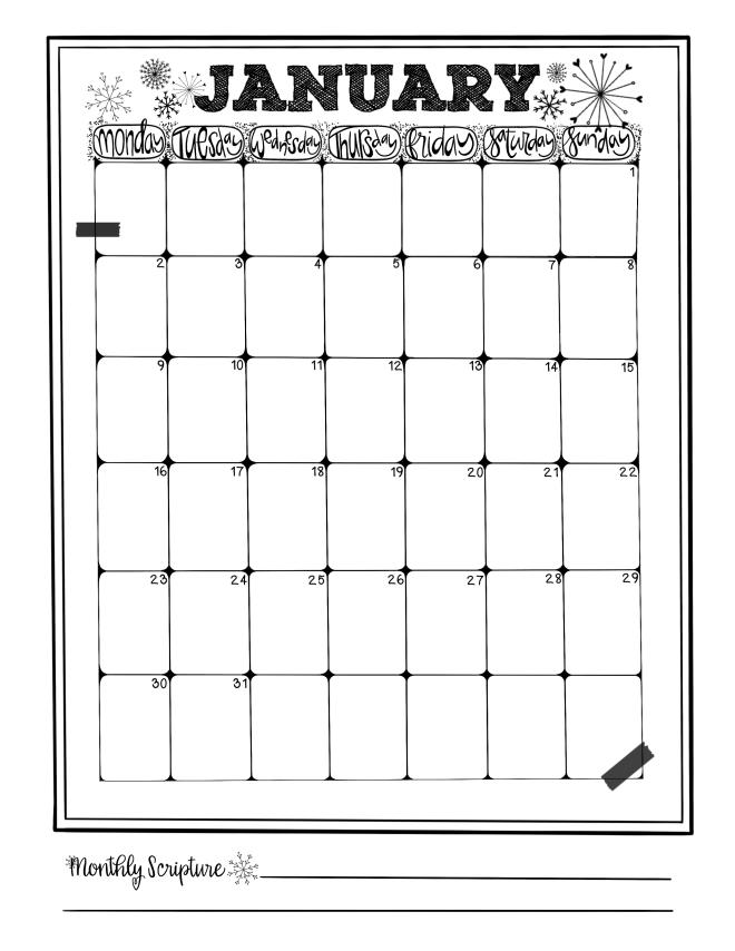 January Calendar / Sue Carroll