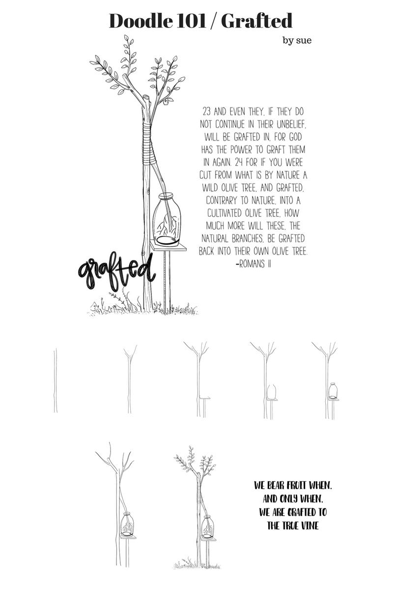 Doodles: Olive Green - C