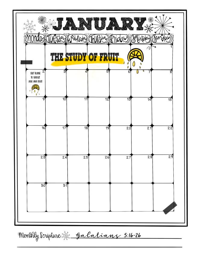 January Calendar/Sue Carroll