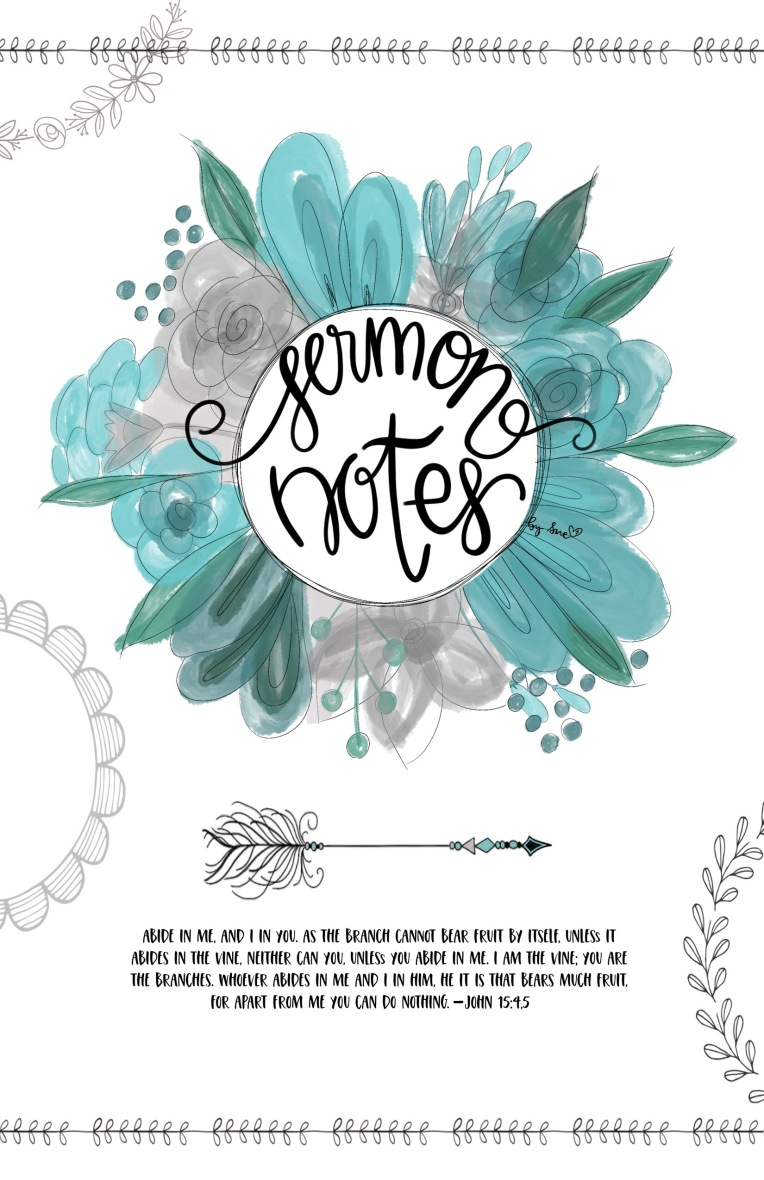 Sue Carroll/ art print/sermon notes